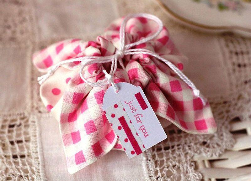 Подарочные мешочек из ткани своими руками
